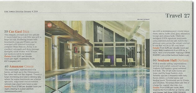 50 best spa holidays the times newspaper