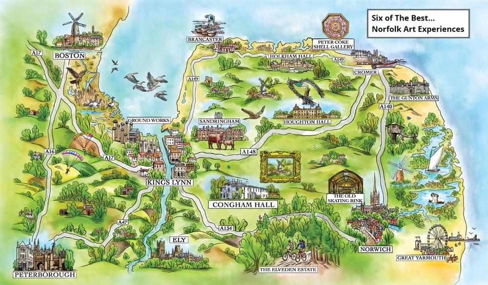 map of norfolk sites