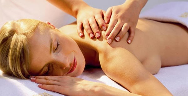 relaxing massage at Congham Hall Hotel and Spa