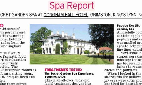 spa report review of congham hall