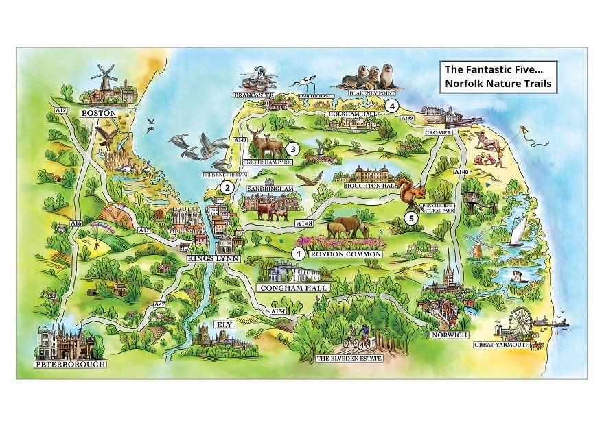 norfolk wildlife map